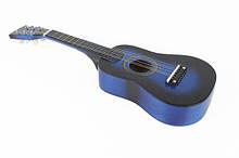 Игрушечная гитара с медиатором M 1369 деревянная  (Синий)