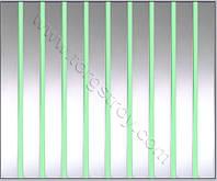 Реечный потолок: зеркальный со светло-зеленой вставкой