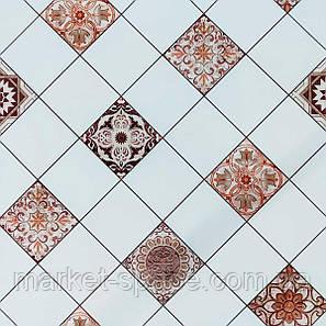 Самоклеюча вінілова плитка 600х600х1,5мм, ціна за 1 шт. (СВП-214) Глянець, фото 2