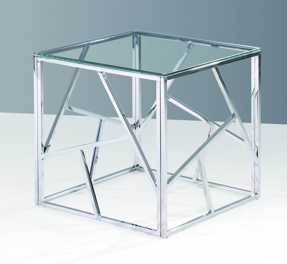 Журнальный стол хром и стекло Signal Мебель Escada B Прозрачный (ESCADABS), стильный журнальный столик