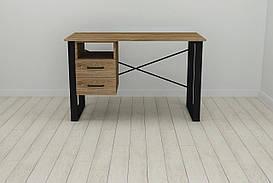 Письменный стол с ящиками Ferrum-decor Оскар  750x1200x700 металл Черный ДСП Дуб Таверна 16 мм (OSK0048)