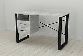 Письмовий стіл з ящиками Ferrum-decor Оскар 750x1200x700 метал Чорний ДСП Урбан Лайт 16 мм (OSK0049)
