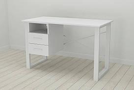 Письменный стол с ящиками Ferrum-decor Оскар  750x1200x700 металл Белый ДСП Белое 16 мм (OSK0050)
