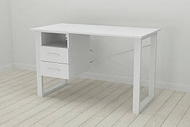 Письмовий стіл з ящиками Ferrum-decor Оскар 750x1200x700 метал Білий ДСП Біле 16 мм (OSK0050)