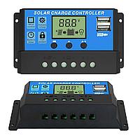 Контролер заряду сонячних панелей 12-24В, 30А