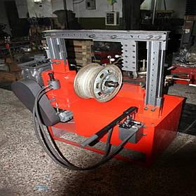 Верстат для рихтування та прокатки литих і сталевих дисків дископравний «Сіріус-МР» (ручний гідронасос)