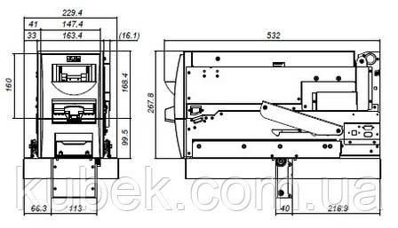 Купюроприймач, приймач купюр, купюроприймач, валідатор JCM RDM 100, фото 2