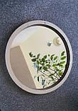 Комплект заготовок для виготовлення дзеркала в техніці макраме 35см, фото 4