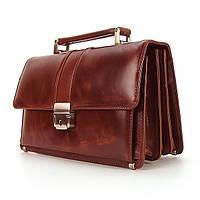 Барсетка коричневого цвета Desisan кожаная коричневая винтажная сумка-барсетка из натуральной кожи, фото 1