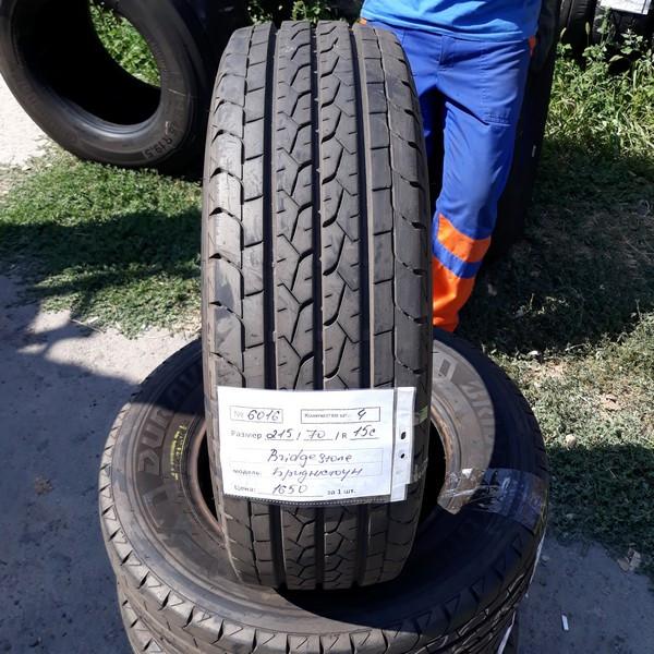 Почти НОВЫЕ! Шины б.у. 215.70.r15с Bridgestone Duravis R660 Бриджстоун. Резина бу для бусов. Цешка