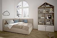 Угловая кровать Оушен с подъемным механизмом 90х200 см.