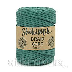Трикотажний бавовняний шнур Shikimiki Braid Cord 6 мм, колір нефрит