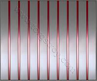 Реечный потолок: металлик со вставкой медь, фото 1