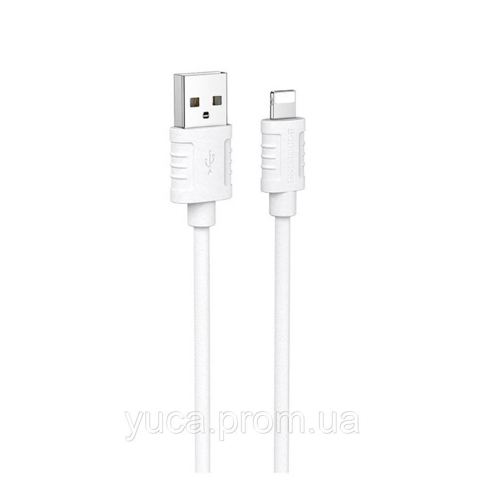 USB кабель Borofone BX52 Lightning 1m 2.4 A білий