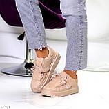 Жіночі бежеві кросівки еко-шкіра + гума, фото 7