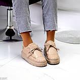 Жіночі бежеві кросівки еко-шкіра + гума, фото 8