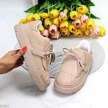 Жіночі бежеві кросівки еко-шкіра + гума, фото 2