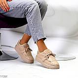 Жіночі бежеві кросівки еко-шкіра + гума, фото 9