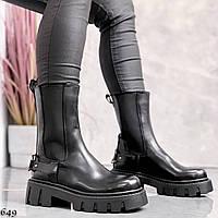 Шикарные демисезонные ботинки на тракторной подошве, фото 1