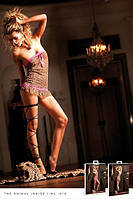 Пеньюар Leopard-Pink Lace Tube Dress