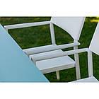 Стілець для вулиці Сальта SALTA alum білий + текстиль від Nicolas, штабелируется, фото 3