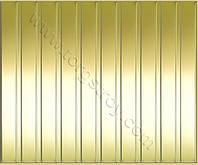 Реечные алюминиевые зеркальные потолки: золото