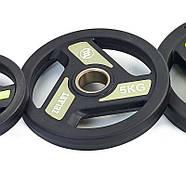 Блины 51мм 5кг (диски) полиуретановые Zelart, фото 3