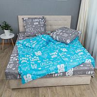 Комплект постельного белья KrisPol «Лав стори» 180x220 Бязь Голд