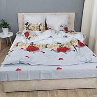 Комплект постельного белья KrisPol «Розы на белом» 200x220 Ранфорс