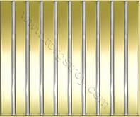 Реечные алюминиевые зеркальные потолки: рейка золото-зеркало со вставкой хром-зеркало
