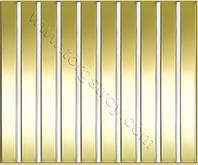 Реечные алюминиевые зеркальные потолки: рейка золото-зеркало с белой вставкой