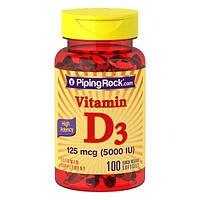PipingRock High Potency Vitamin D3 5000 IU 100 Soft