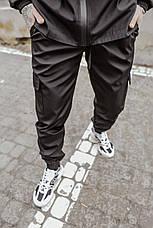 "Размеры S-3XL | Мужские штаны Intruder ""Easy"" Softshell Black Черные, фото 3"