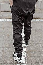 "Размеры S-3XL | Мужские штаны Intruder ""Easy"" Softshell Black Черные, фото 2"