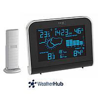 Беспроводная метеостанция для дома TFA Sphere WeatherHub Black (148*53*117 мм)