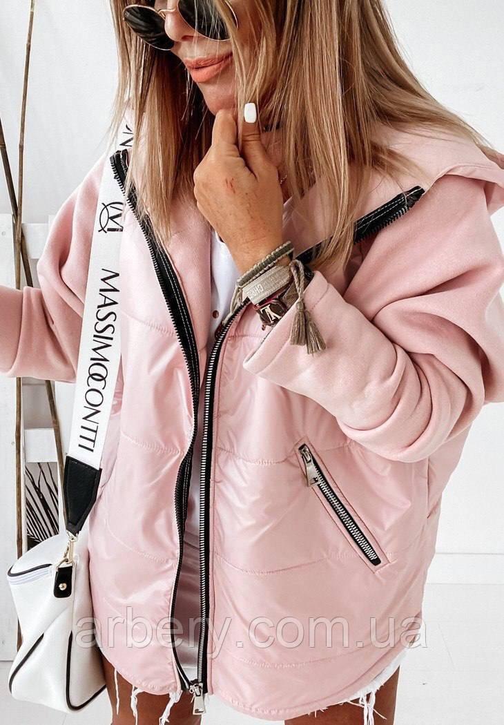 Демисезонная Oversize куртка на флисе