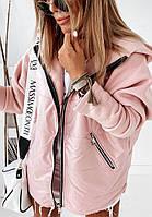 Демисезонная Oversize куртка на флисе, фото 1