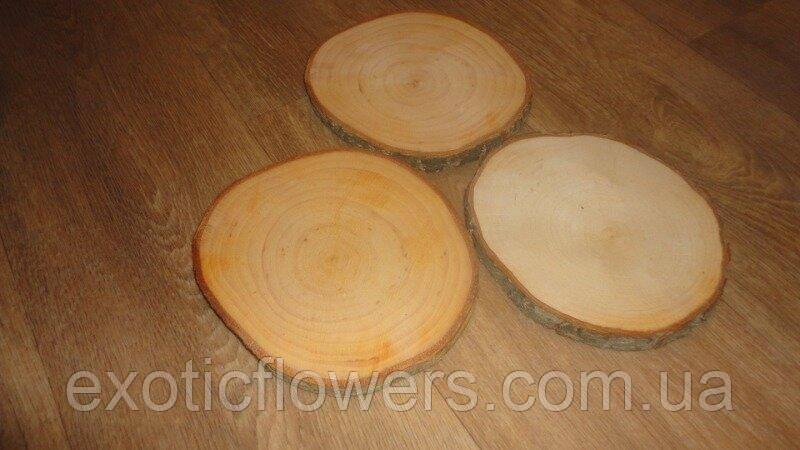 Срез дерева. Ольха 15 - 17 см