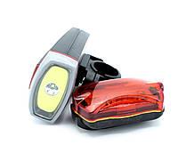 Фара для велосипеда велофара Premium SH-A10 велосипедний ліхтар + задній стоп, фото 1
