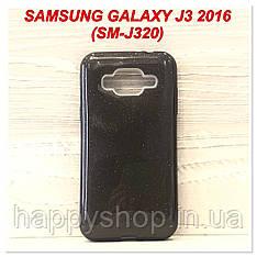 Блестящий чехол для Samsung Galaxy J3 2016 (SM-J320) Черный