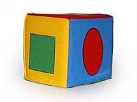 Кубик - погремушка Умная игрушка Геометрические фигуры (6409007)