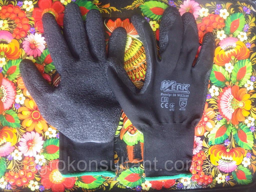 Робочі рукавички Werk WE2125, р. 10 з латексним покриттям