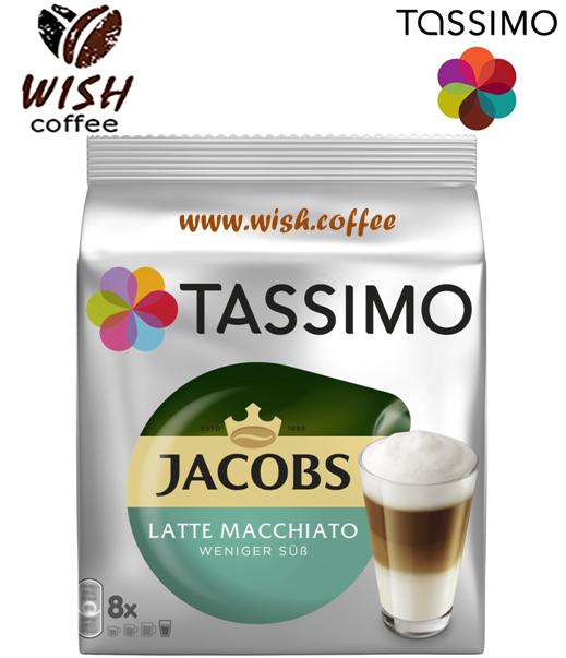 АКЦ! РОЗКРИТА ДЛЯ ПЕРЕВІРКИ! Tassimo Latte Macchiato Less Sweet (МЕНШ СОЛОДКИЙ) (8 порцій)