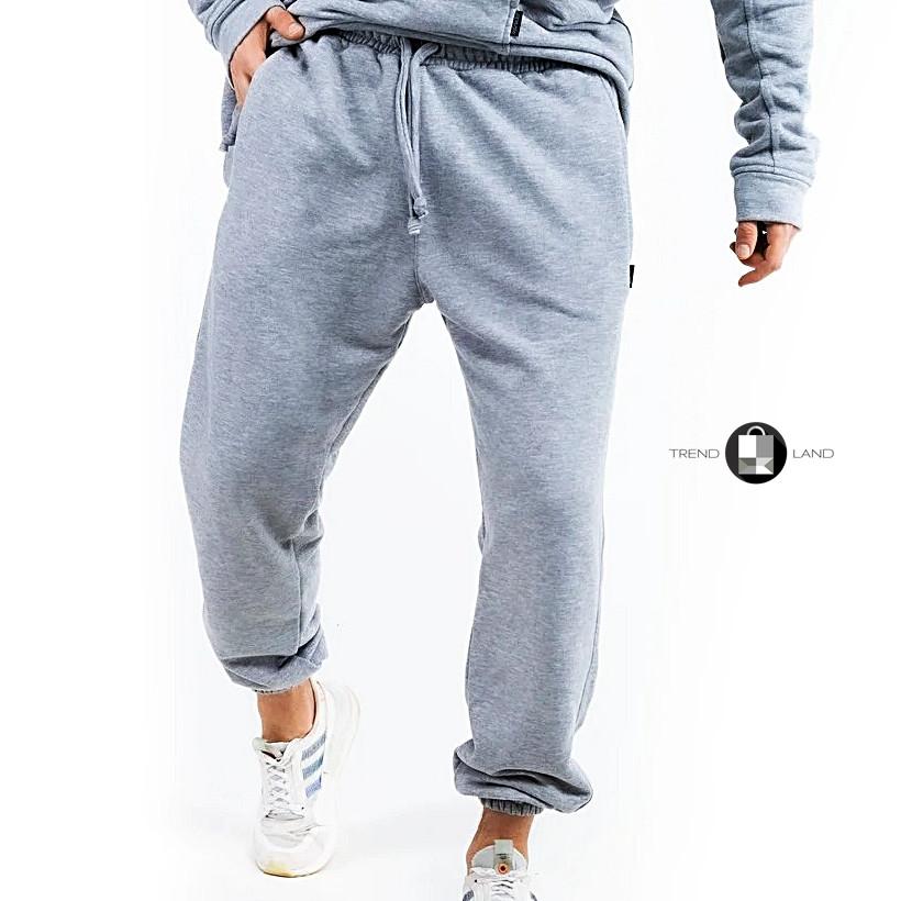 """Размеры S-3XL   Мужские спортивные штаны оверсайз """"Stroper"""" Intruder Grey"""