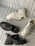 Кросівки білі на платформі з натуральної шкіри, фото 3