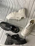 Кроссовки белые на платформе из натуральной кожи, фото 3