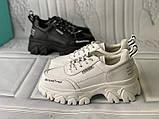 Кросівки білі на платформі з натуральної шкіри, фото 4