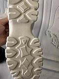 Кроссовки белые на платформе из натуральной кожи, фото 5