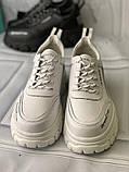 Кроссовки белые на платформе из натуральной кожи, фото 8