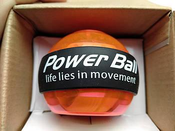 Power Ball тренажер для кистей рук (металл, пластик, d-7см, светящийся)